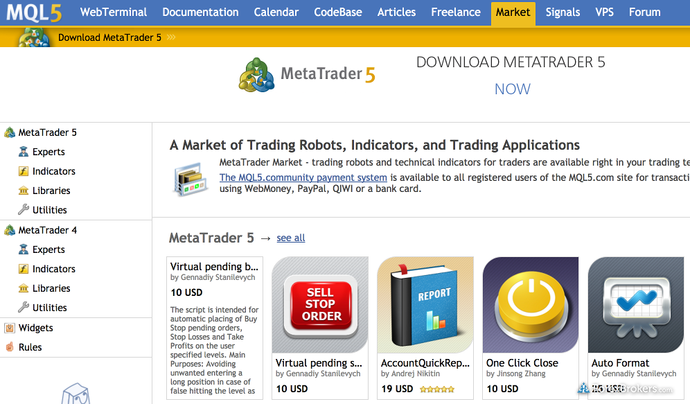 metatrader 4 brokers uk
