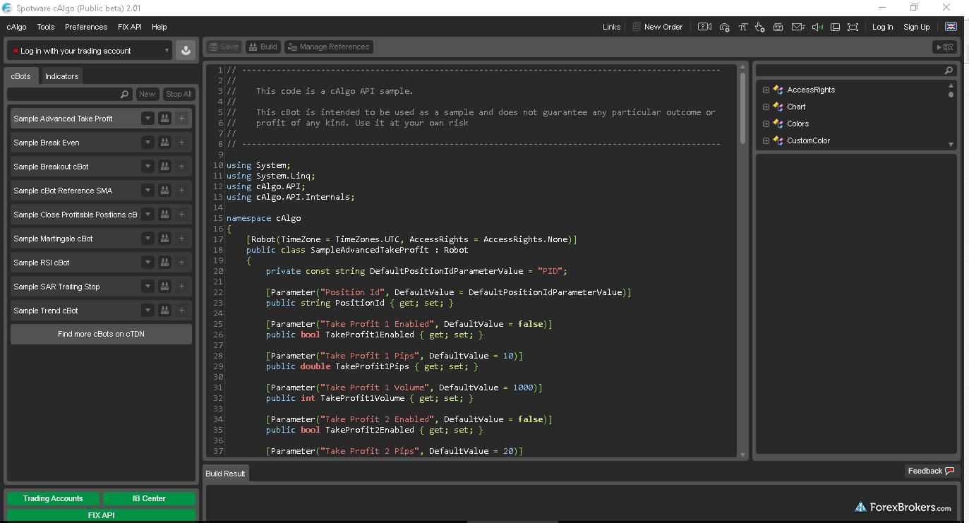 cAlgo compiler