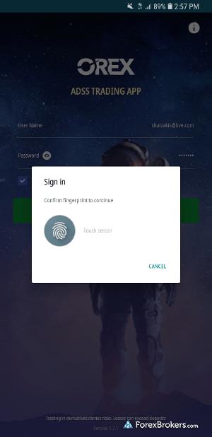 ADSS OREX mobile login