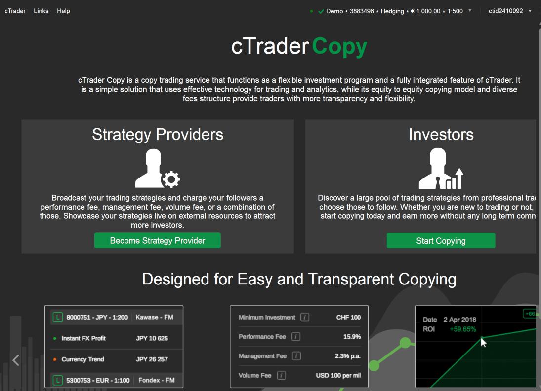 IC Markets cTraderCopy
