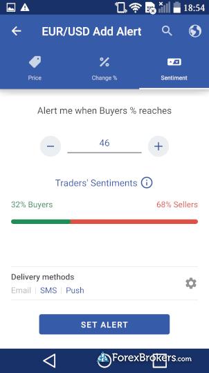 Plus500 mobile app alerts