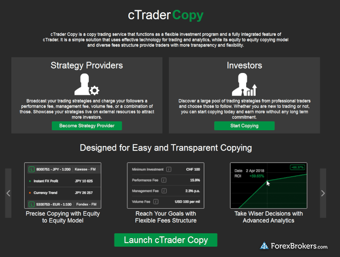 Pepperstone cTraderCopy social trading