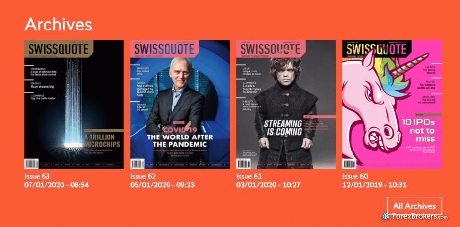 Swissquote Magazine archives