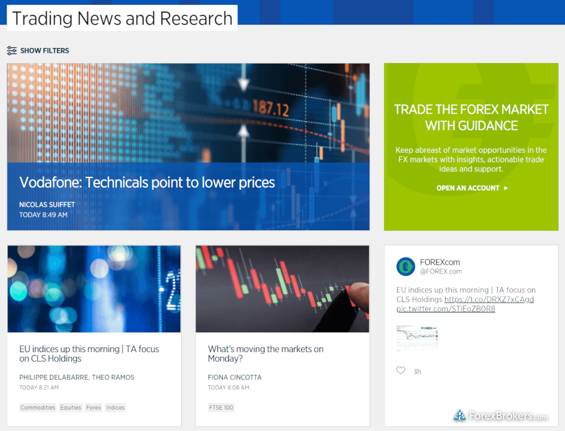 FOREX.com market research web