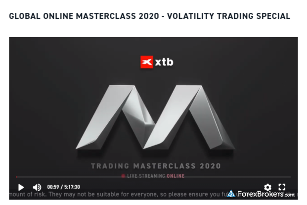 XTB education Trading Masterclass 5 hours