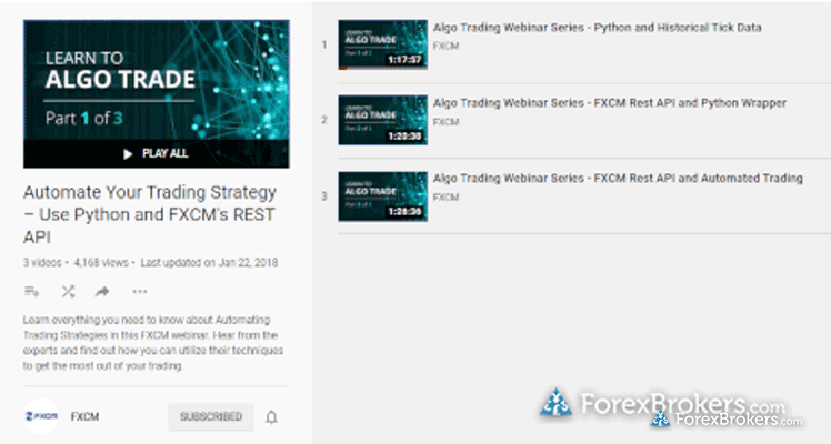 FXCM Algorithmic trading with Python