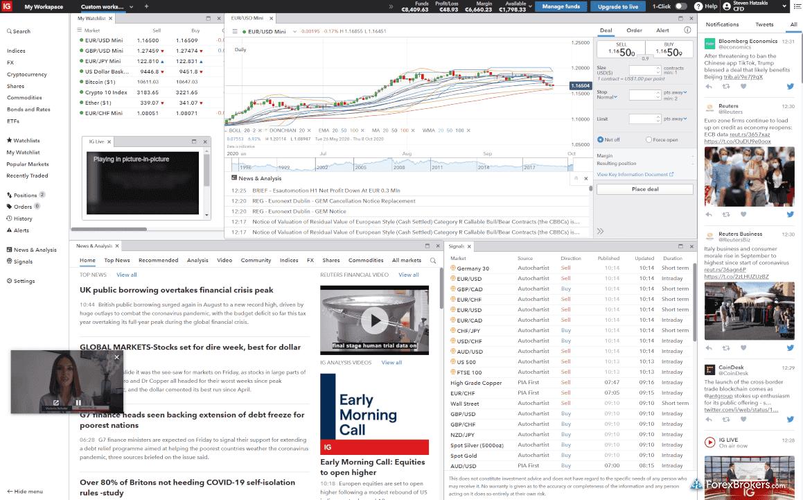 IG web platform layout integrated videos and IG TV