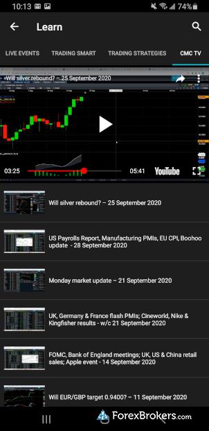CMC Markets Next Generation mobile CMC TV