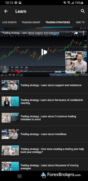 CMC Markets Next Generation mobile educational videos