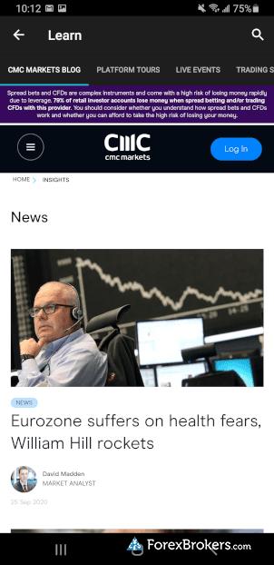 CMC Markets Next Generation Mobile market analysis