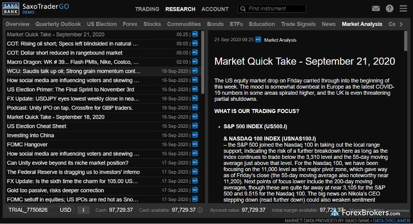 SaxoBank SaxoStrats market analysis insights