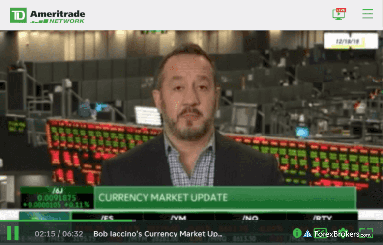 TD Ameritrade Network currency market video udpdate
