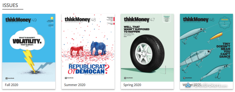 TD Ameritrade thinkorswim thinkMoney magazine 2020 issues