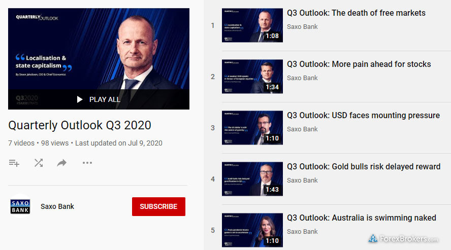 Saxo Bank research YouTube Q3 outlook